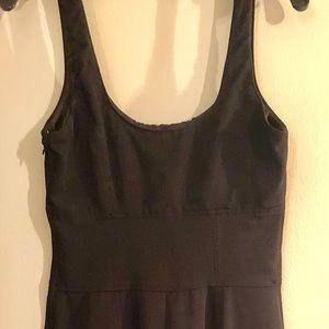 Black tank style mid length dress